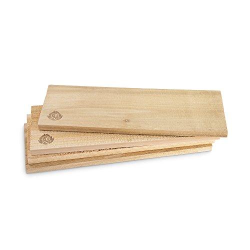 Räucherbretter aus kanadischem Zedernholz, Grillbretter, Set glatte und raue Oberfläche,...