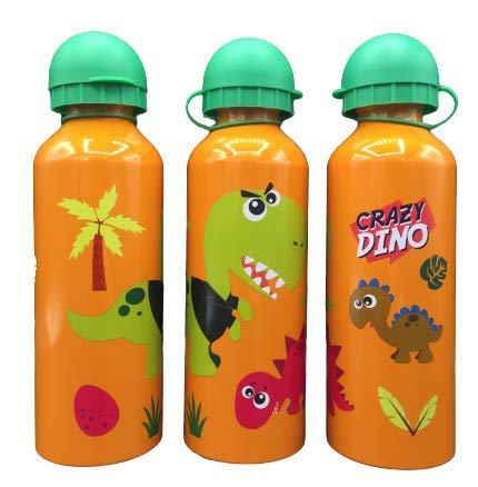 ML Una Botella de Agua de Aluminio, cantimplora térmica a Prueba de Fugas sin BPA para Levar a la Escuela y Deportes el Termo 500ml para niños y niñas (Naranja)