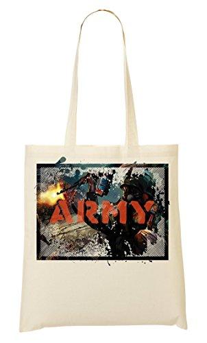 Army   War   Fire in the hole   Guns   Soldier   World war   Killing   AK47   Gas mask   Simple   Shape Tragetasche Einkaufstasche