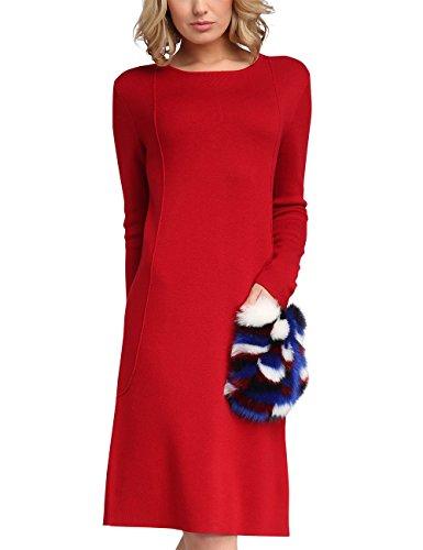 APART Fashion Damen 47703 Kleid, Rot, 40