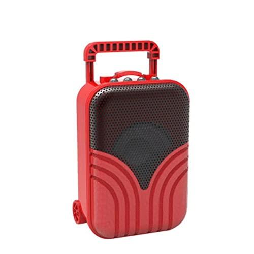TYGH Altavoz Blueteeth Portatil,Karaoke con Sonido Estéreo Inalámbrico, Adecuado para Reuniones Familiares, Fiestas, Deportes Al Aire Libre Creativo Regalo (Color : Red)