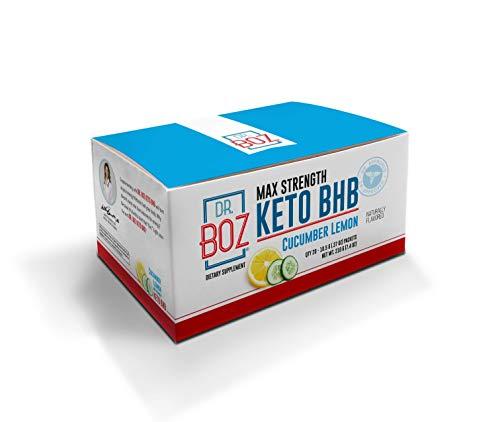 Dr. Boz Max Strength Keto BHB Powder [20 Sachets,16.6g] -Best Keto Supplement for Weight Loss - Keto Supplement | Keto Shake – Keto Diet BHB Powder - [Cucumber Lemon]