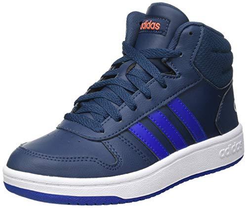 adidas Hoops Mid 2.0 K, Scarpe da Basket, Crew Navy/Team Royal Blue/Ftwr White, 38 EU