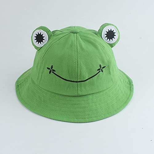 Sombrero de Cubo para Hombres y Mujeres, Gorra de Cubo de Verano con Estampado, Sombrero Amarillo, Gorros de Hip Hop, Sombrero de Pescador de Pesca-Frog Green