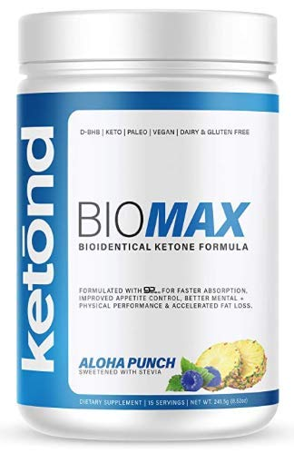 Ketond BioMax — Bioidentical Ketone Supplement — High-Performance Supplement with goBHB-D — Aloha Punch (20 Servings)
