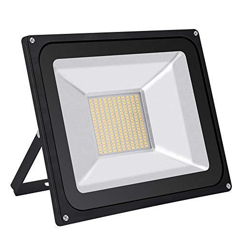HimanJie, faretto a LED da parete, 20 W, 30 W, 50 W, 100 W, 150 W, 200 W, 300 W, 500 W, luce bianca fredda, in alluminio, 220V IP65, 100w, Warmweiß, 2835 100.00W