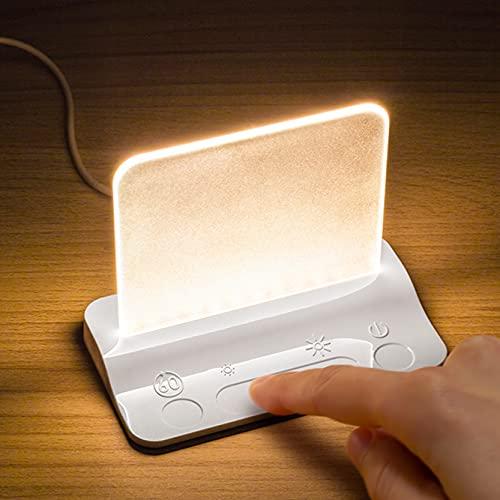 Lampe de nuit LED Integral variation d'intensité tactile, lampe effleurement pour chambre à coucher, veilleuse pour bébé, tout-petit, enfants, chambre d'enfant, chevet, chambre à coucher, base blanche
