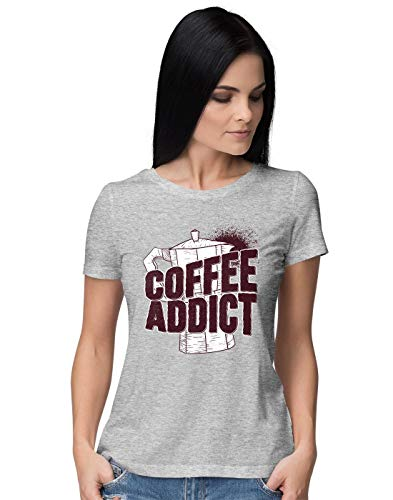 BLAK TEE Damen Coffee Addict with Kettle Illustration T-Shirt M