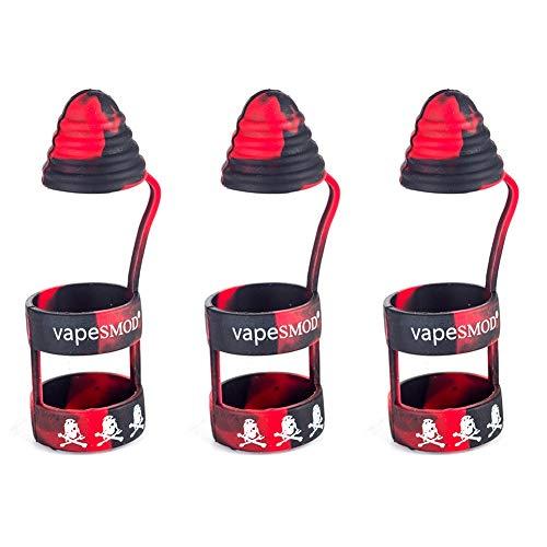 Yeleo Trosetry 3 Stück Vape Band mit Kappe als Abdeckung für E-Zigarette und Verdampfer aus Silikon Anti Slip Mundstück für 510 810 RTA RDA Tank Vape Drip Tip(H07)