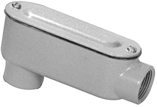 Morris 14051 Rigid Conduit Body, Aluminum, Type LB, Threaded with Cover and Gasket, 3/4
