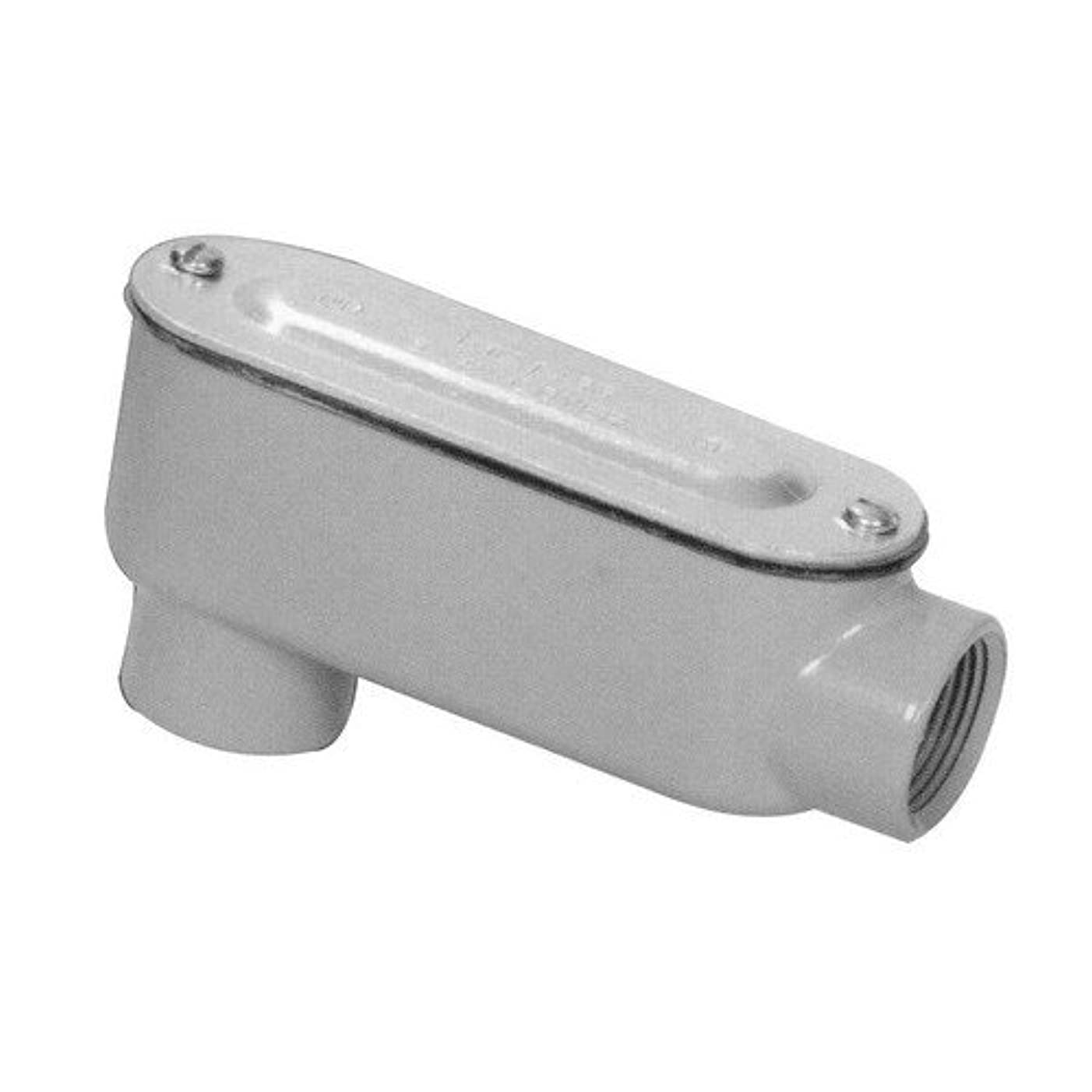 Morris 14056 Rigid Conduit Body, Aluminum, Type LB, Threaded with Cover and Gasket, 2-1/2