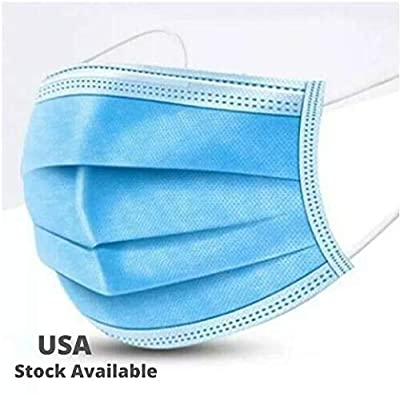 Gurunanda Dust Face Cover (Pack of 50) with Elastic Ear Loop - Fast Shipping - Disposable, Breathable & Anti-Pollution, Safe Mouth Shield for Adults and Kids