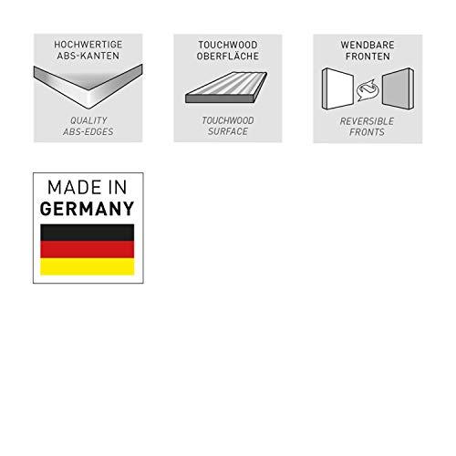 Germania Schiebetürenregal Slide | In Weiss und Sonoma Eiche | 120 x 196 x 35 cm | 4037-176