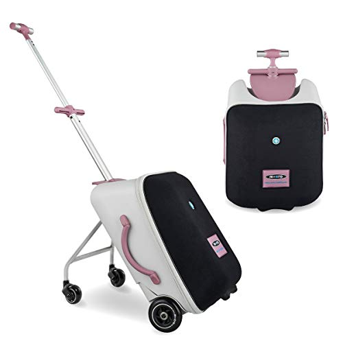 Micro Eazy Ride On 3In1 Suitcase Pink Toddler Trike 18 Months+ Approved Hand Luggage Ideal For Travel 22 Litre