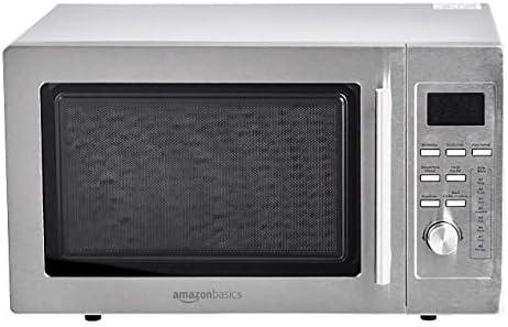 Amazon Basics – Microondas digital de mesa con grill, 25l, 900W, acero inoxidable