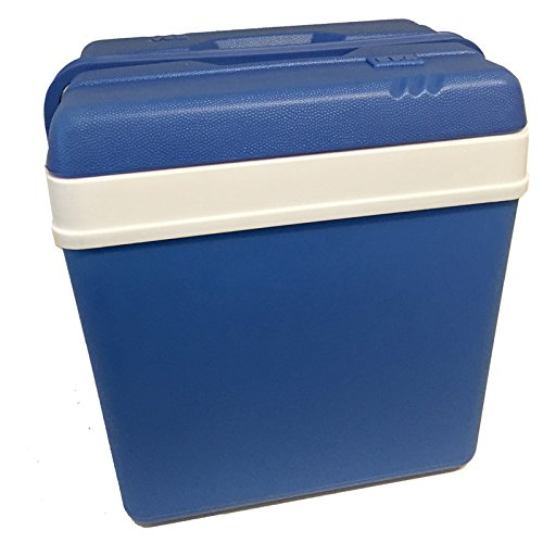 JEMIDI Kühlbox 24 Liter Isolierbox Kühl Box Groß in Blau/Weiss Kühltasche Kühlboxen (Blau/Weiss)