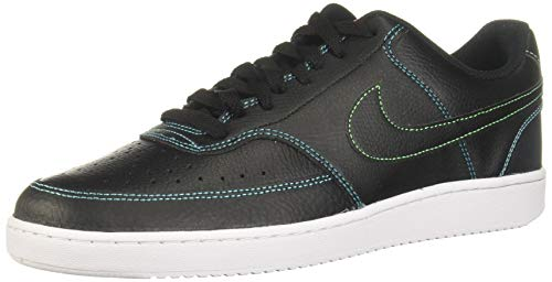 Nike Court Vision LO, Zapatillas para Correr Mujer, Black Black Flash Crimson Green Strike Blue Fury Volt, 39 EU