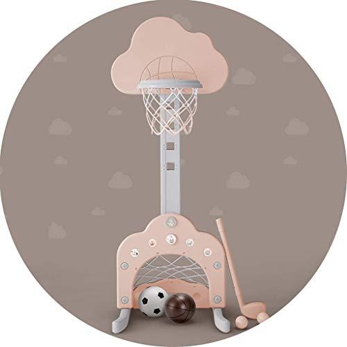 XIUYU Fitness Basketballkorb Inland Abhebbarer Basketballkorb for Kinder Indoor Freistehende Shooting-Rack stabile Basis Basketball-Rack (Color : Pink, Size : 54 * 50 * 109149cm)