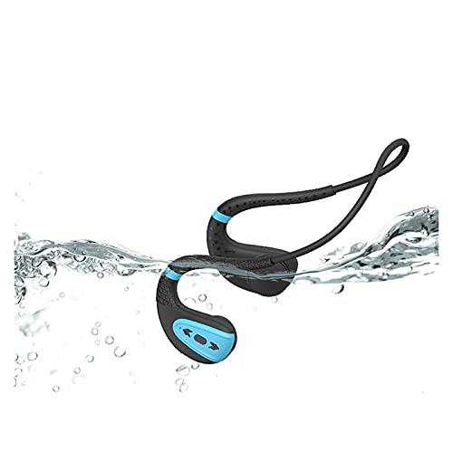 WQMA 2021 Auriculares De Nueva Conducción IPX8 Impermeable A Prueba De Agua Auriculares Bluetooth Bluetooth MP3 Player Deporte Auricular 16G Memoria Buceo Correr Compatible con Todo El Teléfono,D
