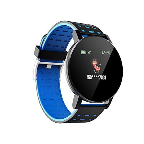 Reloj Inteligente, 1,3 Pulgadas Reloj Inteligente De Fitness con GPS A Prueba De Agua En Espera Durante 20 Días Vigilancia De La Salud Medición De Frecuencia Cardíaca Plan De-Blue