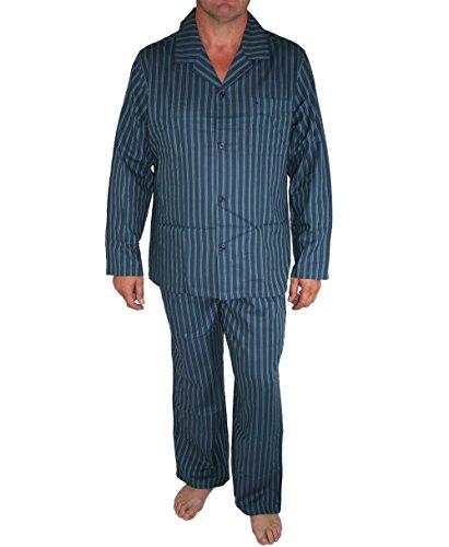 Seidensticker Herren Pyjama Lang Zweiteiliger Schlafanzug, Blau (dunkelblau 803), Small (Herstellergröße: 048)