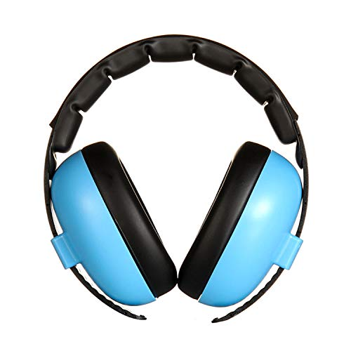Gosear Baby Ear Protection Safety Baby Ear Hearing Protection Noise Cancelling Headphones Ear Muffs Defenders Headset for Newborn Infants Adults Sleeping Studying Airplane Blue