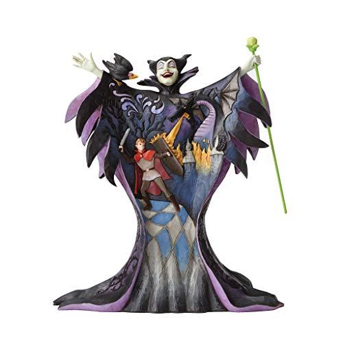 Enesco Disney Traditions by Jim Shore Maleficent with Scene Malevolent Madness Figurine, 8.75 Inch, Multicolor