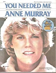 Sheet Music You Needed Me Anne Murray 176