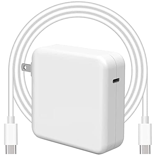87W USB C Power Adapter Compatible with Mac Pro & Mac Air Laptop Charger 13 15 16 inch 2021 2020 2019 2018 Works with Type C 87W 61W PD Power Charger, Included USB C to USB-C Charge Cable(6.6ft/2m)