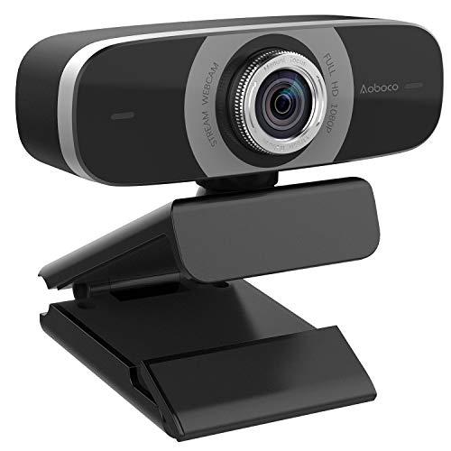 Aoboco Webcam HD 1080P, USB Webkamera with Dual Mikrofon Pro Web Kamera Stream for Mac Windows Laptop Twitch Xbox One Skype YouTube OBS Xsplit