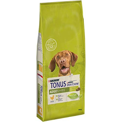Purina Tonus Dog Chow Adult Cane Crocchette con Pollo, 14 kg