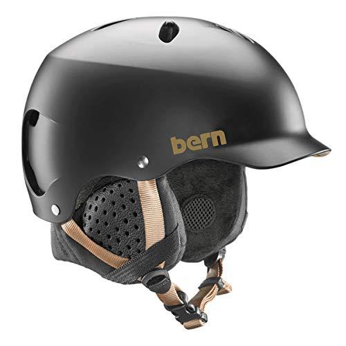 Bern Damen sw05m17sbk2Lenox Winter Snow Helm, Satin schwarz, mittel