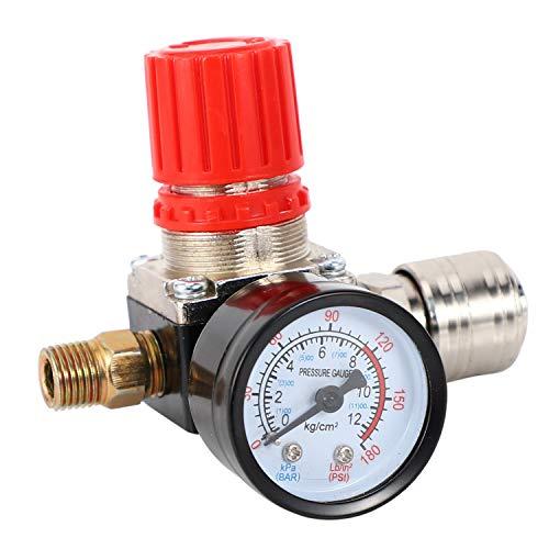 OVBBESS Reductor de presión de 1/4 pulgadas, regulador de presión estándar de la UE