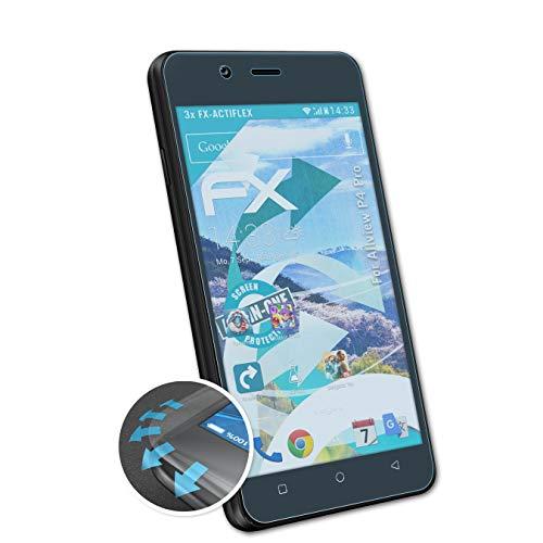 atFolix Schutzfolie kompatibel mit Allview P4 Pro Folie, ultraklare & Flexible FX Bildschirmschutzfolie (3X)