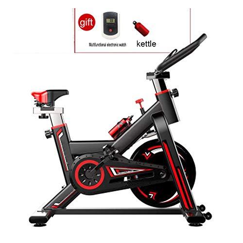 Hoge Bicicleta Spinning Indoor Resistencia Regulable con Disco Inercia, Bici Entrenamiento Fitness con Sillín Ajustable, Pantalla LCD