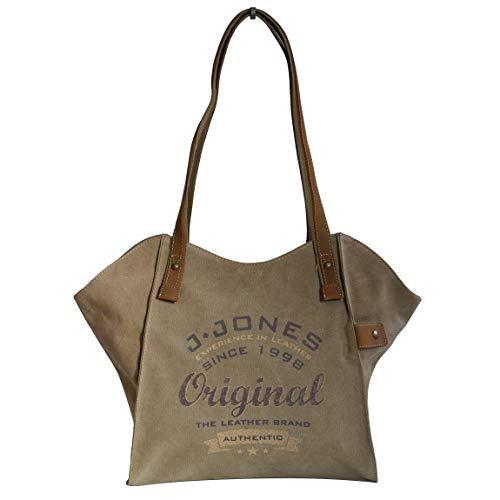 J. Jones - modieuze schoudertas damestas shopper vintage handtas - canvas (kleur naar keuze) - gepresenteerd door ZMOKA®