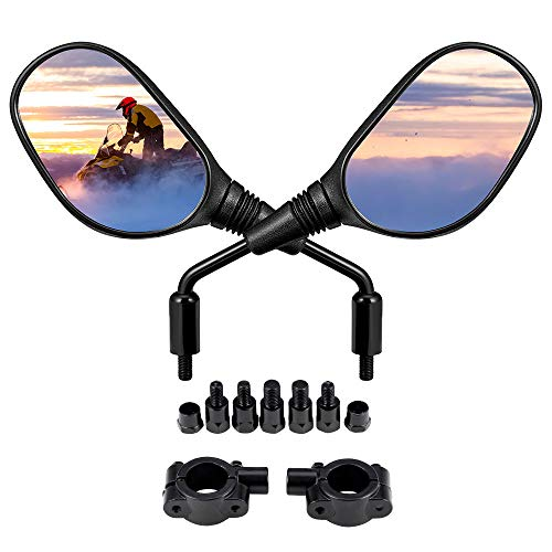 kemimoto ATV and Motorcycle Rear View Mirrors for 7/8 Inch Handlebars, 360 Degrees Ball-Type...