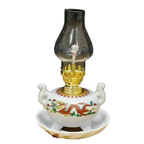 SJKDXL Petroleumlampen Zeltlicht Keramik Nostalgie Klassische Petroleumlampe Kulturrevolution Porzellan Buddha Light Home Decoration Öllampe Ornament Collection