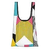Bauhaus - Bolsa de la compra con diseño gráfico cómodo, a la moda, reutilizable, respetuosa con el medio ambiente.