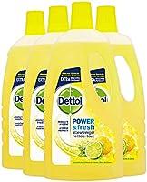 Dettol Power en Fresh Allesreiniger Citroen en Limoen 4 x 1 Liter Grootverpakking