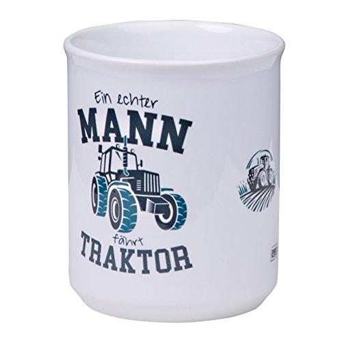 tassenWERKcom Formschöne Kaffeetasse EIN ECHTER Mann FÄHRT Traktor für Farmer, Bauern und Landwirte - spülmaschinenfest aus Keramik - von MUGSY.de