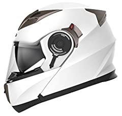 Modular Flip-up Function, Anti-scratch, and Wide View Clear Visor. Advanced Lightweight Durable ABS Shell with EPS Impact Absorption Inner Liner. Helmet Liner / Cheek Pads Are Lightweight, Soft and Easily Removable and Washable. Fully Adjustable Flow...