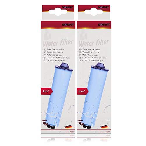 2er Pack - Scanpart Wasserfilterpatrone für Kaffeevollautomaten - Ersetzt die Jura Blue Filterpatrone