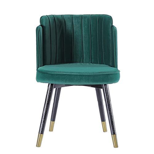 HEJINXL eettafel en stoelen, metaal chroom benen keuken eetstoel met rugleuning zachte kussen keuken bureau restaurant woonkamer lounge stoel kan dragen 180 kg
