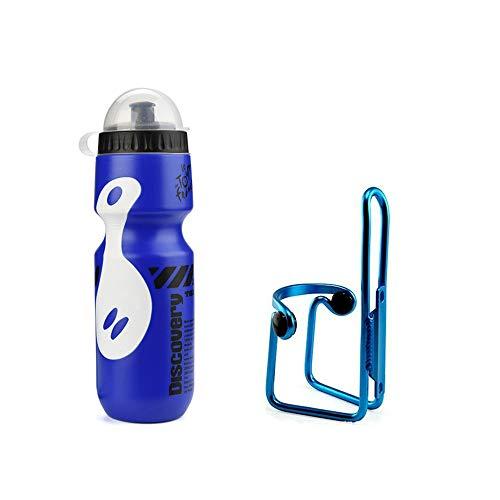 Bestine - Soporte para botella de agua con botella de agua para bicicleta de montaña, ciclismo, botella de agua y soporte para botella de agua, kit de jaula de plástico duradero y botella
