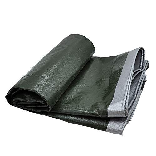 WANG Abdeckplane wasserdichte Plane Grün und Silber reversibel Mehrzweck-Polyhülle Für Zelte und Wetterschutz, 180 G/m² , 0,35 mm Qualitätsabdeckung Plane (Color : Silver Green, Size : 4x5m)