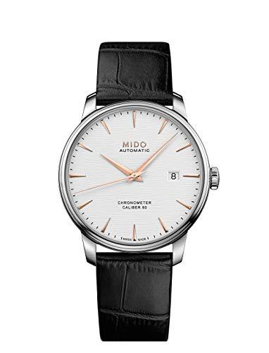 Mido Herren-Automatikuhr Baroncelli Chronometer Silizium M027.408.16.031.00