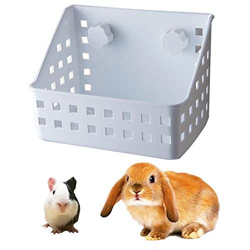 JWShang comedero para heno, Ventosa para cobayas, heno, Estante para Montaje en Pared para Conejo, Chinchilla y cobayas, galesaur