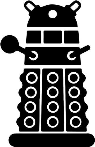 Dr Who Dalex Vinyl Decal Sticker Bumper Car Truck Window- 18' Tall Gloss White Color