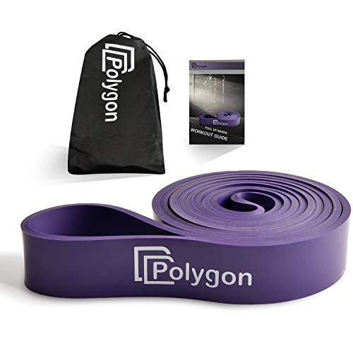Pull Up Assist Resistance Exercise Bands, Polygon Heavy Duty Assistance Loop Mobility Band, for Body Stretching, Muscle Toning, Powerlifting, Resistance Training, Physical Therapy, Workout.(Purple)